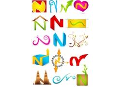 N字母logo设计