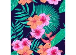 花卉插画无缝背景