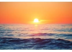 海面日落风景
