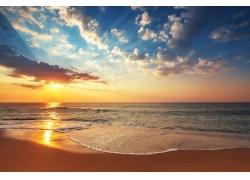黄昏海滩风景