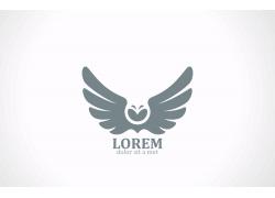 雄鹰翅膀logo设计