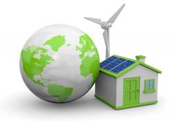 太阳能风车与地球