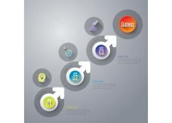 立体圆环箭头信息图表