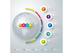 立体地球信息图表