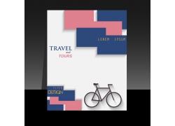 自行车图方形宣传页图片