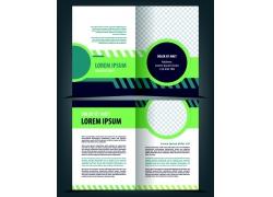 绿色几何图形宣传页图片