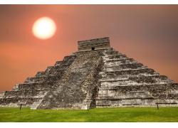 玛雅金字塔风景