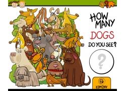 可爱的卡通动物插图图片