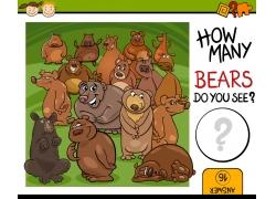 可爱的卡通棕熊图案图片