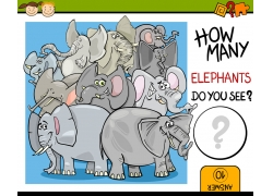 卡通大象图案图片