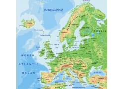 矢量欧洲地图图片