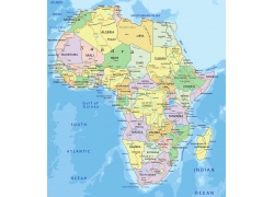 非洲地图图片