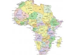 矢量非洲地图图片