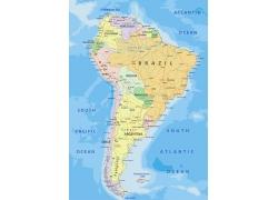 南美洲地图图片