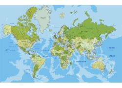 七大洲地图图片