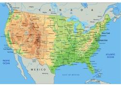 矢量美国地图图片