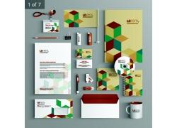 彩色菱形企业VI