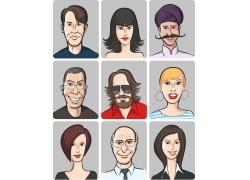 卡通职业人物漫画头像图片
