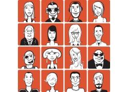 矢量人物插画图片