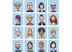 抽象人物漫画头像图片