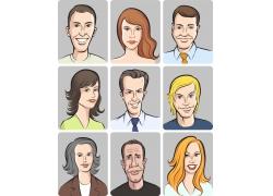 矢量人物漫画面孔图片