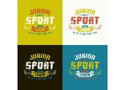 体育英文字母印花图案