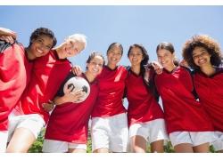 肩并肩美女足球队