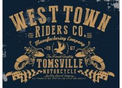 摩托车T恤印花设计