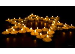 五角星蜡烛