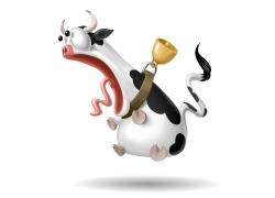 3D卡通奶牛