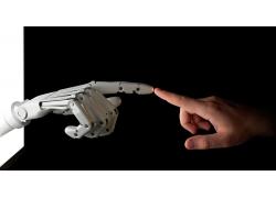 手指触碰的机器人