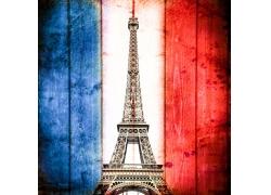 埃菲尔铁塔与法国国旗