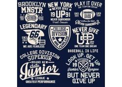 创意字母T恤印花图案