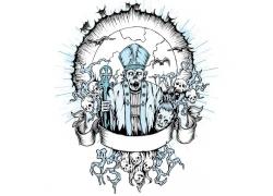 骷髅国王T恤印花