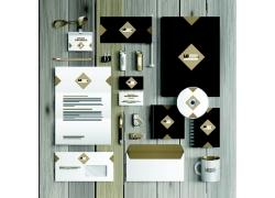 金色方块VI设计