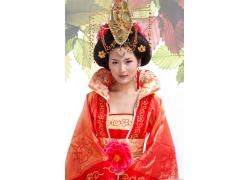 红色牡丹古装美女