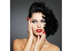 性感美甲红唇美女写真