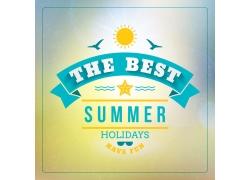 太阳海星丝带夏日海报