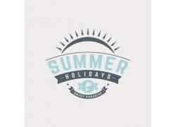 英文字母夏日海报