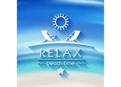 海水沙滩夏日海报