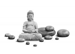 佛像和石头