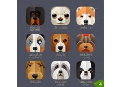 卡通小狗头像图标图片