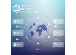 蓝色地球统计分析信息图表