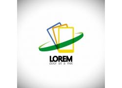 彩色方框logo设计