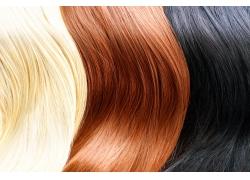 彩色头发背景