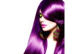 紫色头发性感美女