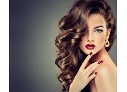 时尚美甲美女模特