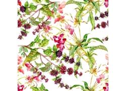 鲜花无缝背景图案