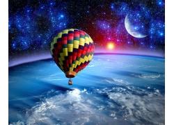 太空中的热气球
