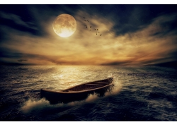 大海上的孤舟